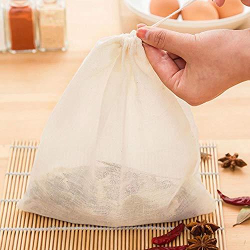 LASISZ Kordelzug Medizin Baumwolltasche, Küchenbeutel Schlackentrennung Kochen Suppentasche Küche Kochen Werkzeuge