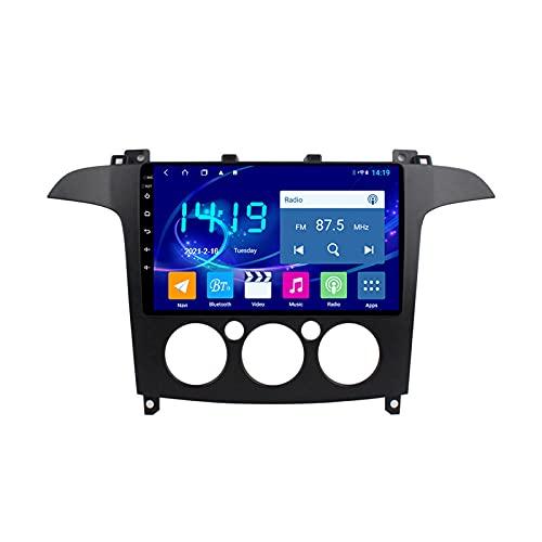 MGYQ Reproductor Multimedia para Coche Pantalla Tactil 1080P, para Ford S-MAX 2006-2015 Car Stereo, con Cámara De Visión Trasera Soporte Bluetooth/FM Radio/Mirror Link,A Quad Core,WiFi 1+32
