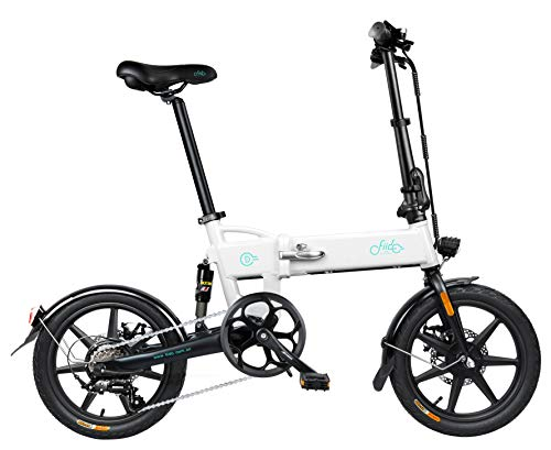 "Open sale on April 26, 2021 FIIDO D2S 16"" Electric Bike 250w Aluminum Electric Bicycle (White)"