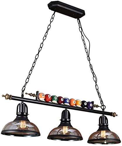 xxw Lámpara de araña vintage Billar Tienda Decoración Personalidad Nostálgica Lámparas