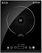 Portable Induction Cooktop, iSiLER 1800W Sensor Touch Electric Induction Cooker Cooktop with Kids Safety Lock, Countertop Burner with Timer