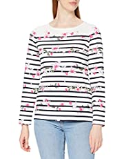 Joules Harbour Print Jersey Top Camiseta Superior para Mujer