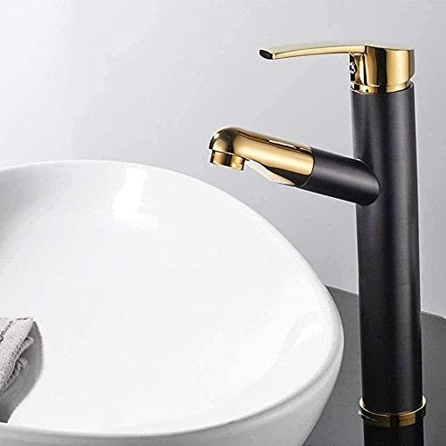 Grifo de lavabo con grifo de baño caliente y frío, grifo cascada con palanca única