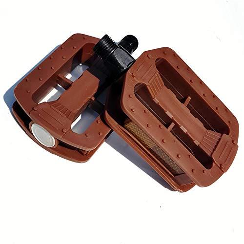 di plastica della Bicicletta Pedali Antiscivolo Ultralight ad Alta Resistenza Applica a Strada Fixed Gear MTB BMX Bike Cycling Parts (Color : Chocolate)