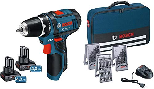 Bosch 0615990HV1 GSR 12V-15 + 2x 4,0Ah in Tasche, 48 W, 12 V
