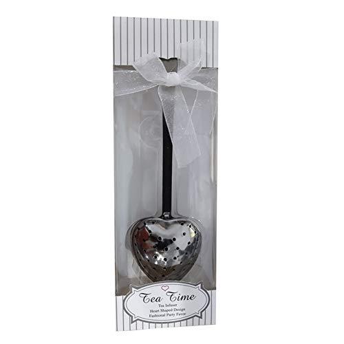 Hearsbeauty - Infusore per tè a forma di cuore, filtro per tè con manico, ideale come regalo o bomboniera