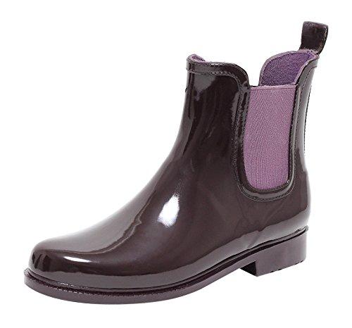 ZAPATO EUROPE Chelsea Regenstiefel Jelly Boot LILA Gr. 37