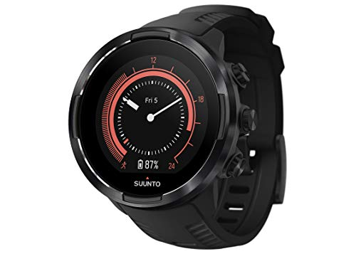 Suunto 9, GPS Sports Watch with Long Battery Life and Wrist-Based Heart Rate, Barometer, Black