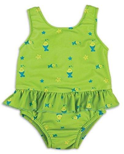 Bambinomio Baby Badeanzug mit Schwimmwindel Medium - grün