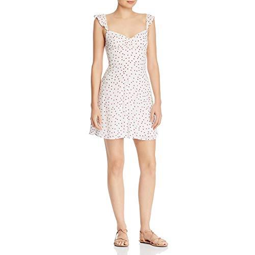 BB Dakota womens Stars Align Printed Dress, ivory 8