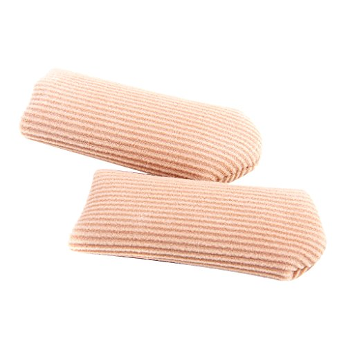 Footful - Protector de dedo gordo del pie, de tejido con gel, se puede cortar, alivia el dolor, talla L, un par