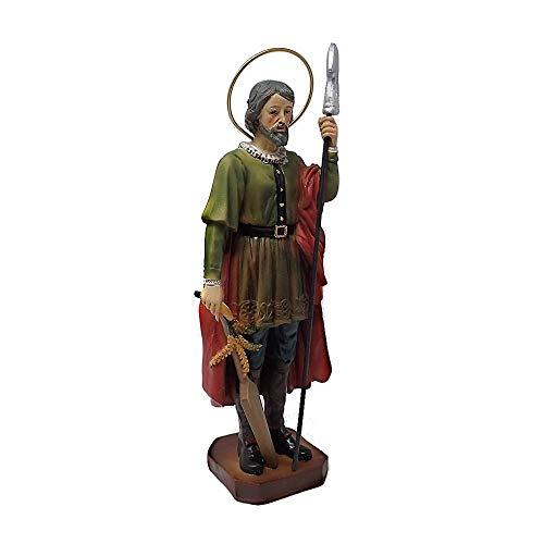 Inmaculada Romero IR Figura San Isidro Labrador Adorno 18Cm. Resina Peana Decoración