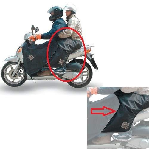 Compatibel met Garelli City Four 150 afdekking voor de passagiersstoel, scooter, Tucano Urbano waterdicht R091-N universeel direct op de verwarming van de Pilot gevoerde afdekking