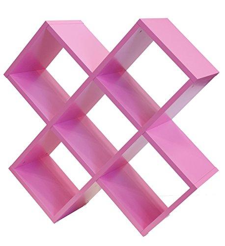 TENZO Box Designer Regal, Holz, Rosa, 35 x 104 x 104 cm