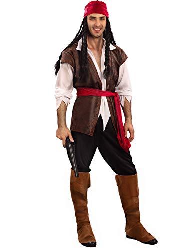 DEGUISE TOI Déguisement Pirate Homme - Marron - XL