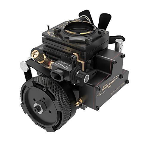 BOBX Benzinmotor Modellbau, TOYAN FS-S100AT 3,5cc 1-Zylinder 4-Takt Luftgekühlt Verbrenner Motor Modell Elektrisch Gestartet Verbrennungsmotor Motor Modell für RC Auto/Boot/Panzer