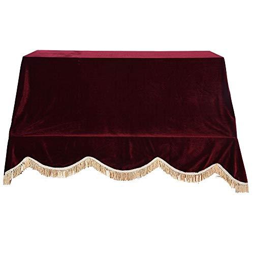 Alomejor Klavier Staubschutz, Klavierdeckel Piano Abdeckhaube Protective Tuch Abdeckung für Vertikale Klaviere(Rot)