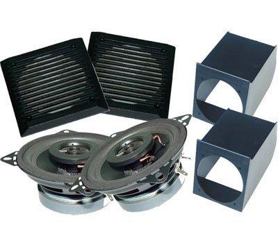 Sistema audio per auto composto da: 2 supporti altoparlanti con griglie + 2 altoparlanti Colore NERO.
