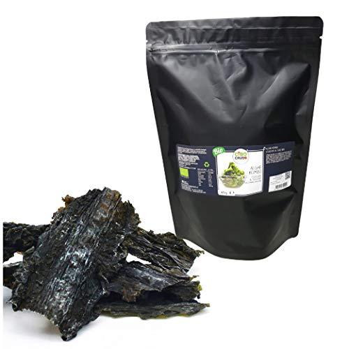 Alga Kombu Secada al Sol Orgánica Cruda Rica en Fibras y Sales Minerales para Sazonar Platos, Alga Kombu, Alga de Bretaña, Cierre Sellado - 50 gr