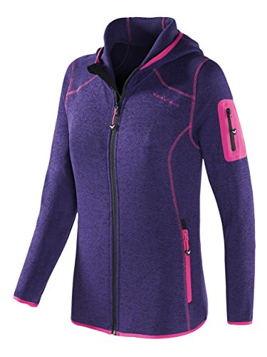 Black Crevice Damen Fleecejacke Fleecejacke, purple, 40