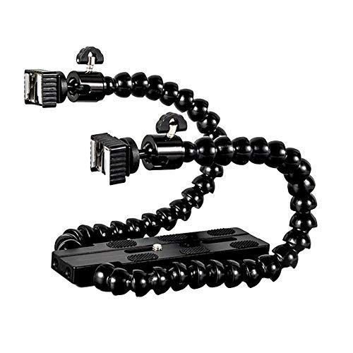 Flexible Dual-Arm-Kamera-Blitz-Halterung, zwei Blitzschuh-Halterungen mit Kugelkopf für Speedlite DSLR-Makroaufnahmen