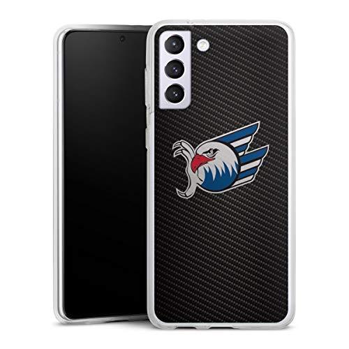 DeinDesign Silikon Hülle kompatibel mit Samsung Galaxy S21 Plus 5G Case transparent Handyhülle Adler Mannheim Eishockey Logo