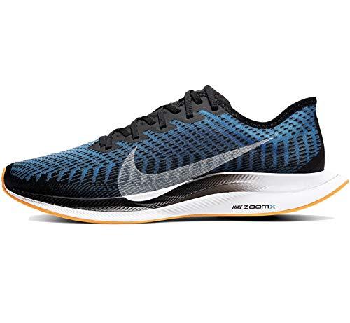 Nike Men's Zoom Pegasus Turbo 2 Running Shoes Black/White-University Blue-Laser Orange 10.5