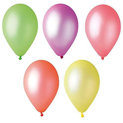 10 ballons fluorescents couleur