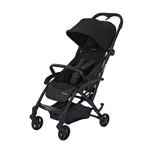Maxi-Cosi Laika kompakter Kombi-Kinderwagen ideal für unterwegs Leicht, kompakt und flexibel, nomad black, schwarz