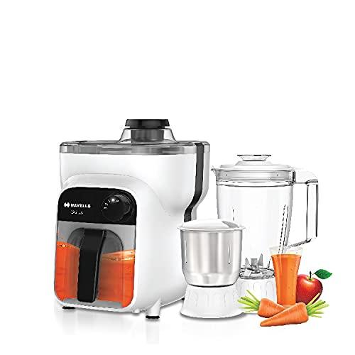 Havells Stilus 3 Jar 500-Watt Juicer Mixer Grinder (White/Black)