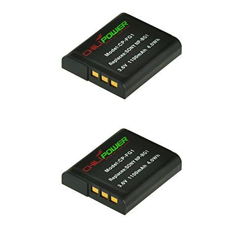 ChiliPower 2-Pack NP-BG1, NP-FG1 (1100mAh) Batería para Sony Cybershot DSC-HX5V, DSC-HX7V, DSC-HX9V,...