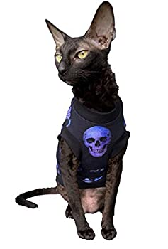 Kotomoda T-shirt en coton extensible pour chat Sphynx (XS)