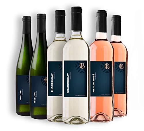 C & H Buhl Exquisite - Sommer-Paket Alkoholfrei - Rotwein, Weißwein, Rosé - 6x 0,75 L