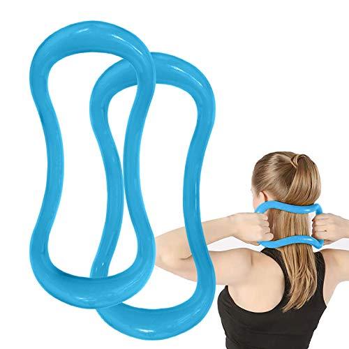 Gxhong Yoga Ring, Yoga Ausrüstung, Pilates Circles, Zuhause Yoga Widerstandstraining für Anfänger Fitnessgeräte Zubehör, Ganzkörper Fitness Ring für Rücken, Schultern, Hüften, Taille (2 pcs Hellblau)