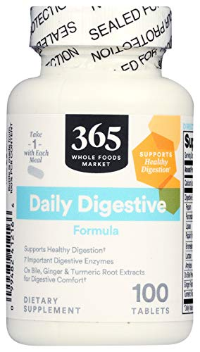 365 by Whole Foods Market, Supplements - Digestion, Daily Digestive Formula, 100 Count