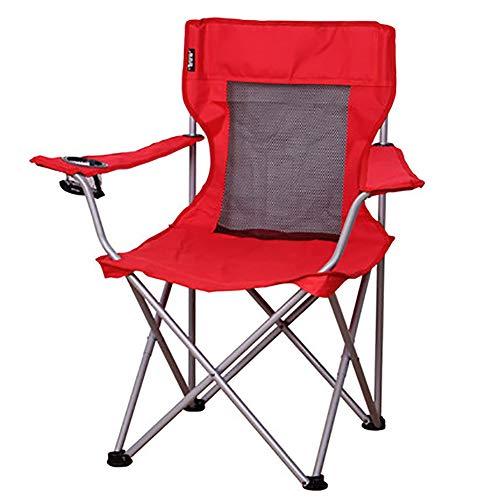 SHARESUN Outdoor opklapbare campingstoel, groot met armleuning bekerhouder terug visstoel, maximale draagvermogen 120kg, voor volwassen strandreizen picknick barbecue tuin