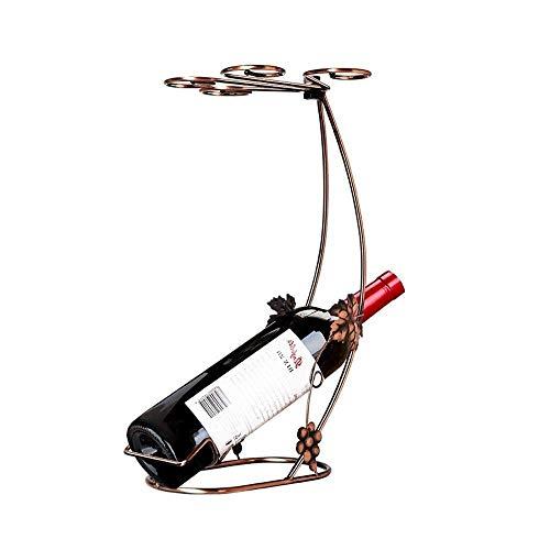 CAIJINJIN estante del vino Vino del estante del sostenedor creativo vidrio de vino rojo vino tinto Estante cáliz decoración del hogar Decoración Vino Europea (color: 4 ganchos) arte de la manera (colo
