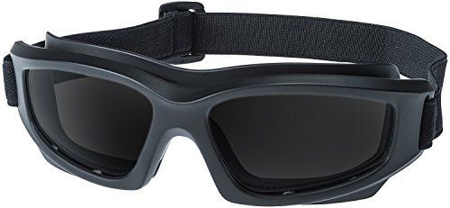 """Tinted Motorcycle Riding Goggles: Heavy-Duty Riding Goggles""""No Foam"""" Design w/Hard Case, Microfiber Cleaning Cloth & Pouch Included (Smoke)"""