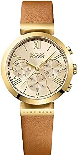 hugo boss Classic Sport Women's Gold Dial Leather Band Watch - 1502396