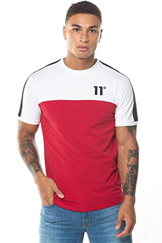 11 Degrees 11D-120-160 Panel Block Half Sleeve T-Shirt - Ski Petrol Red/White