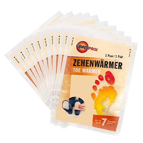 Warm Pack zehenwaermer | Scarpa waermepads per Temperature Fredde | Toe Warmer | piacevolmente Morbido Scaldapiedi | 6Ore Lungo 38°C | Confezione da PZ.