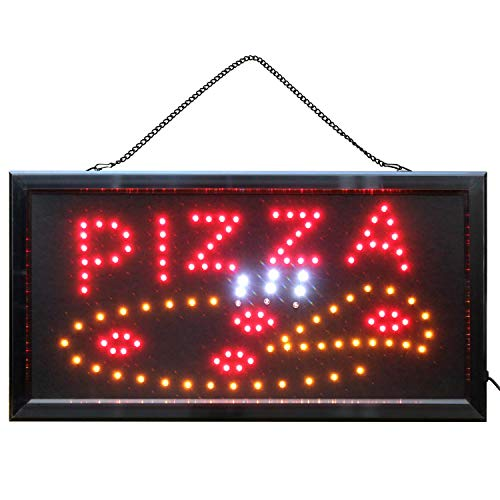 Pizza Schild LED-Schild Leuchtreklame Pizzeria Fast Food Imbiss & Schnellimbiss Neon Werbeschild Kiosk
