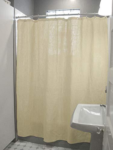Bean Duschvorhang aus Baumwolle - 7 oz. Stoff Ente, Produkte Curtain + Roller Rings natürlicher Hanf