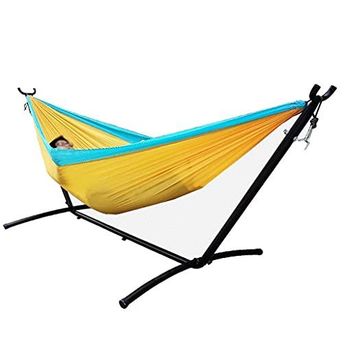 Hamaca, soporte de hamaca para interiores y exteriores, desmontable montado en hierro, para acampar, balcón, cama oscilante, regalos para excursionistas (color: B)