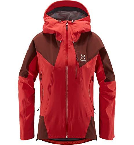 Haglöfs Skijacke Frauen Skijacke L.I.M Touring Proof Wasserdicht, Winddicht, Atmungsaktiv, Kleines Packmaß Hibiscus Red/Maroon Red M M