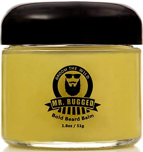Mr Rugged Beard Balm For Men (1.8oz) All Natural Beard Care Formula, Beard Conditioner, Essential Part of Any Beard Care… 1