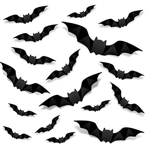 96 PCS Halloween Decoration 3D Bats…