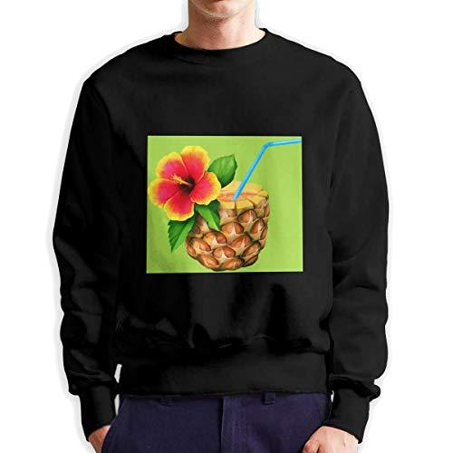 Sunwan bruin kokosnoot sap, keuken van Hawaii Luau, Tropische Cocktail S mouw lange shirt Top Tops Casual Sweatshirt Blouse Tee Shirts Tees Classic Crewneckpatchwork korte tiener grote blouses