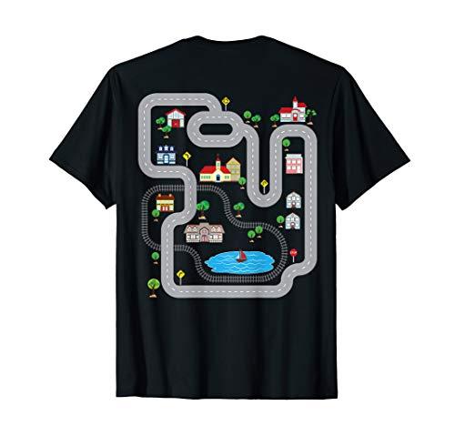 Spielmatte mit Auto KFZ-auf Rückseite Funny T-Shirt