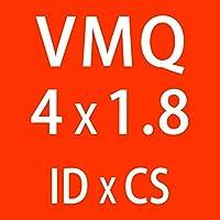 WYanHua-Oリングガスケット、座金・ワッシャー. 10ピース/ロットシリコンリングシリコーンVMQ Oリング、ゴムOリングシールガスケット、1.8mm厚さID1.8~4mm 素材製 (Color : ID4mm)